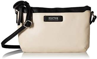 Kenneth Cole Reaction Right Angles Crossbody W/RFID & Retractable Earbuds