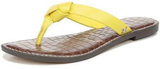 Sam Edelman Giles Napa Leather Thong Sandals, Yellow