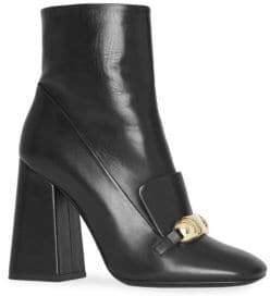 Burberry Brabant Leather Square Toe Boots