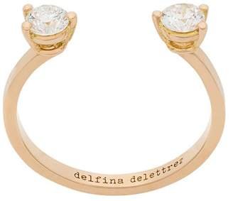 Delfina Delettrez 18kt champagne gold Dots diamond ring