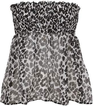 Fisico Cristina Ferrari Leopard Print Mini Skirt
