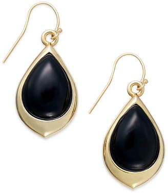 Signature Gold Onyx Teardrop Earrings (9-3/8 ct. t.w.) in 14k Gold over Resin