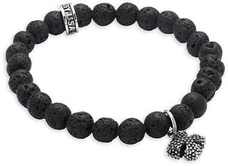 King Baby Studio Men's Beaded Slip-On Bracelet