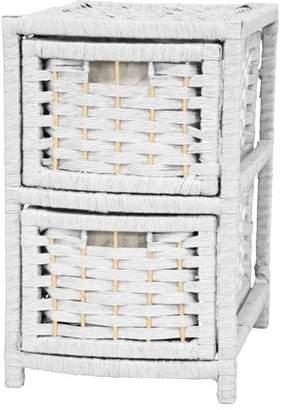 Oriental Furniture Natural Fiber Occasional Chest, 4 Drawer