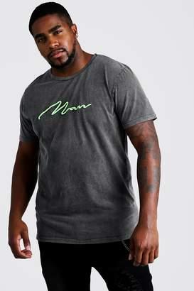 boohoo Big & Tall MAN Loose Fit Acid Wash T-Shirt