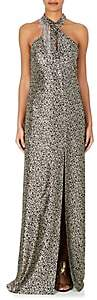 Lanvin Women's Embellished Silk-Blend Lamé Gown - Gold