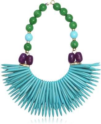 Katerina Psoma Nuwa Fringed Beaded Necklace