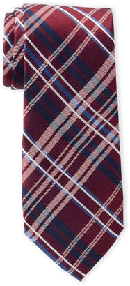 Tommy Hilfiger Red Plaid Perfection Silk Tie