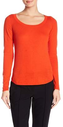 Minnie Rose Long Sleeve Scoop Neck Tee