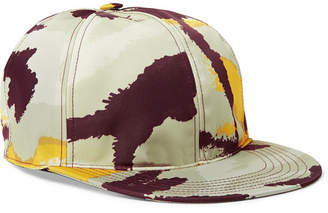 Valentino Camouflage-Print Shell and Leather Baseball Cap - Men - Multi