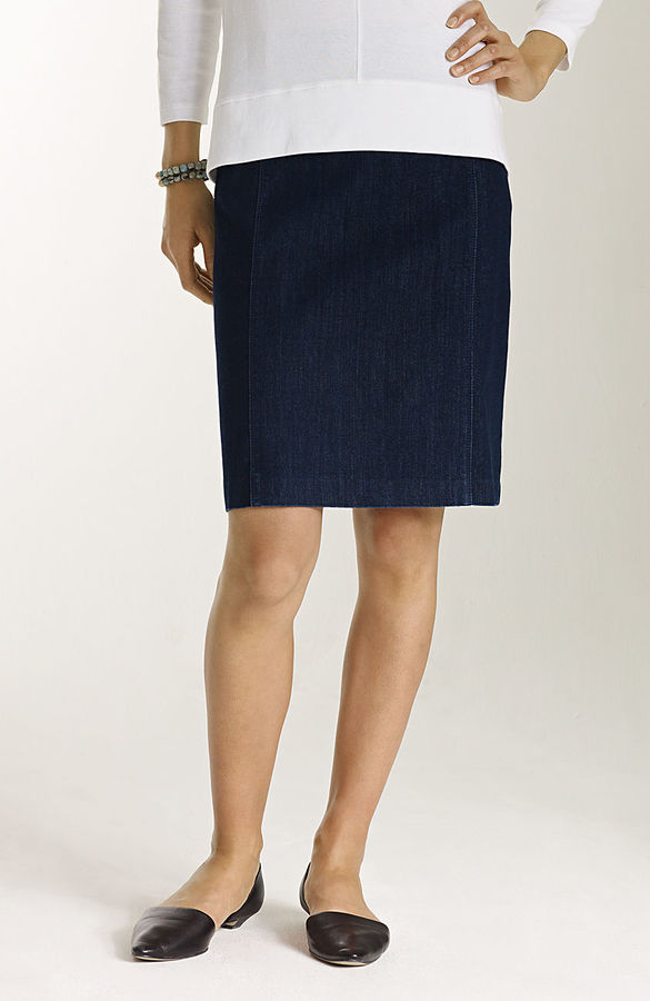 J. Jill Snap-back denim pencil skirt