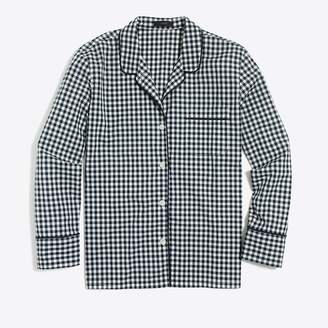 J.Crew Factory Cotton poplin long-sleeve sleep shirt