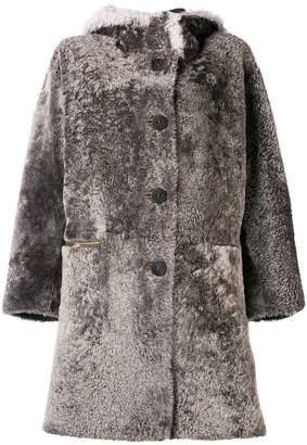 Sylvie Schimmel hooded shearling coat