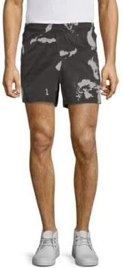 Black Barrett Globe Camo Shorts