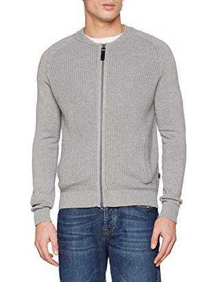 S'Oliver Men's 13.901.64.2258 Cardigan, (Medium Grey Melange 9222), X-Large
