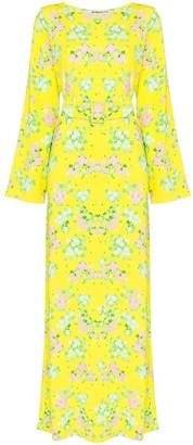 MONICA Bernadette floral print maxi dress