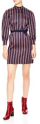Sandro Respect Belted Stripe Dress