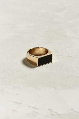 Urban Outfitters Black Rectangular Ring