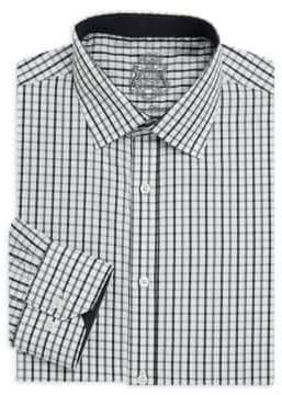 English Laundry Plaid Cotton Dress Shirt