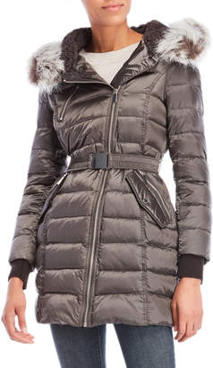 French Connection Faux Fur Hood Down Coat