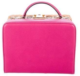 Mark Cross Small Grace Rattan Box Bag