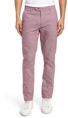 Ted Baker Holldet Flat Front Stretch Solid Cotton Pants