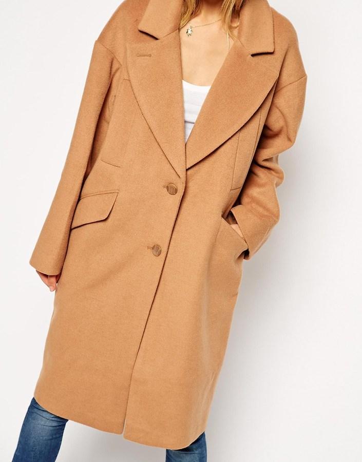ASOS TALL Cocoon Coat 3