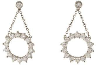 Tiffany & Co. Platinum Diamond Open Circle Drop Earrings