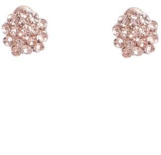 Quiz Rose Gold Diamante Stud Earrings