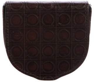 Salvatore Ferragamo Gancio Leather Coin Wallet