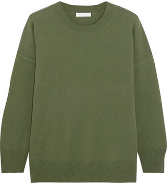 Equipment - Melanie Cashmere Sweater - Army green $300 thestylecure.com