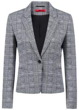 HUGO Boss Slim-fit blazer in black-and-white check pattern 2 Patterned