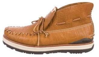 Visvim Leather Moccasin Ankle Boots