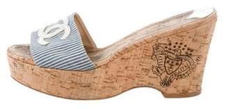 Chanel CC Slide Sandals