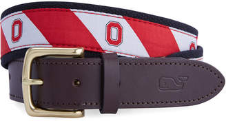 Vineyard Vines The Ohio State University Canvas Club Belt