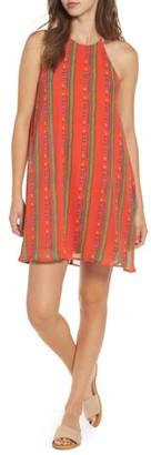Women's Everly Stripe High Neck Swing Dress $45 thestylecure.com