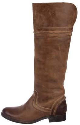 Frye Leather Knee-High Boots Brown Leather Knee-High Boots