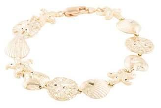 14K Starfish & Shell Bracelet