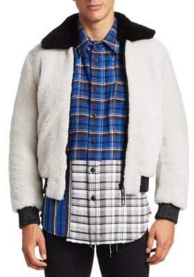 Off-White Shearling Bomber Jacket