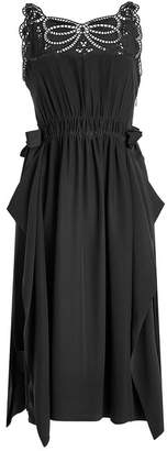 Fendi Silk Crepe Dress with Cut-Out Detail