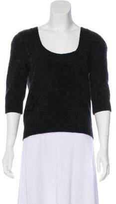 Dolce & Gabbana Mohair & Virgin Wool-Blend Short Sleeve Top