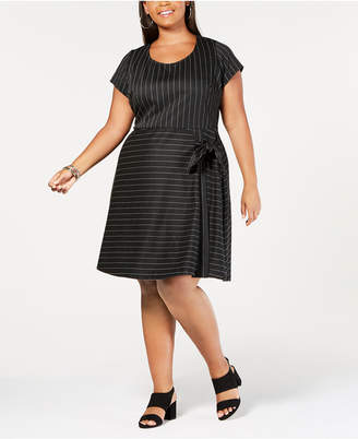 Love Squared Trendy Plus Size Side-Tie A-Line Dress