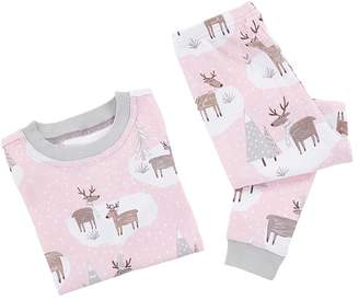 Pottery Barn Kids Winter Reindeer Cotton Tight Fit Pajama, 2T