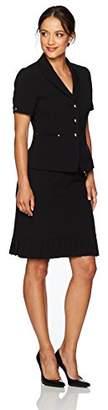 Tahari by Arthur S. Levine Women's Petite Size Short Sleeve Skirt Suit