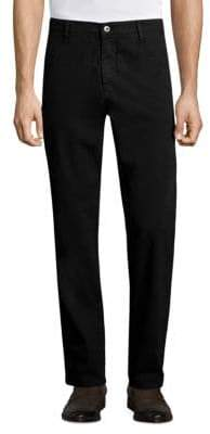 Isaia Solid Slim-Fit Pants