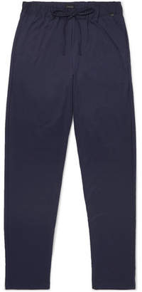 Hanro Cotton Pyjama Trousers - Men - Blue