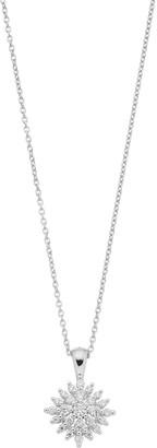 Vera Wang Simply Vera Sterling Silver 1/2 Carat T.W. Diamond Rhombus Cluster Pendant