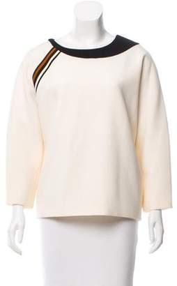 Bouchra Jarrar Long Sleeve Wool Top