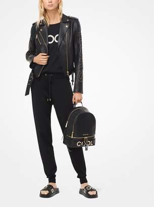 MICHAEL Michael Kors Studded Leather Moto Jacket