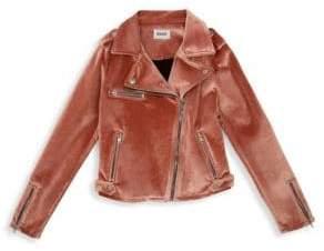 Hudson Jeans Girl's Nadia Velvet Moto Jacket